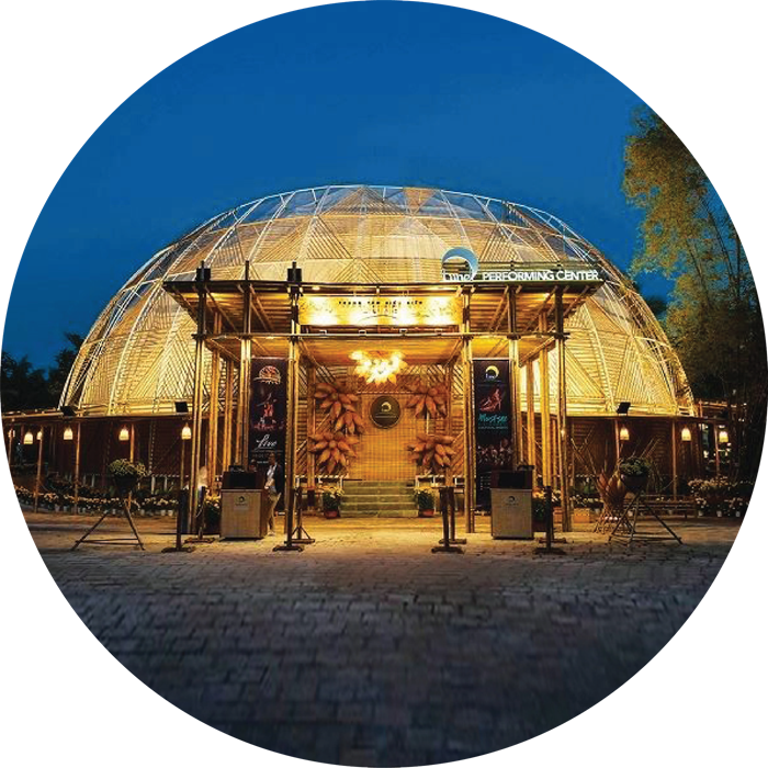 ICONIC BAMBOO DOME-SHAPED THEATER